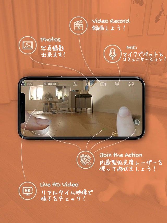 猫用ロボット「Ebo(イーボ)」Ebo アプリ 操作イメージ