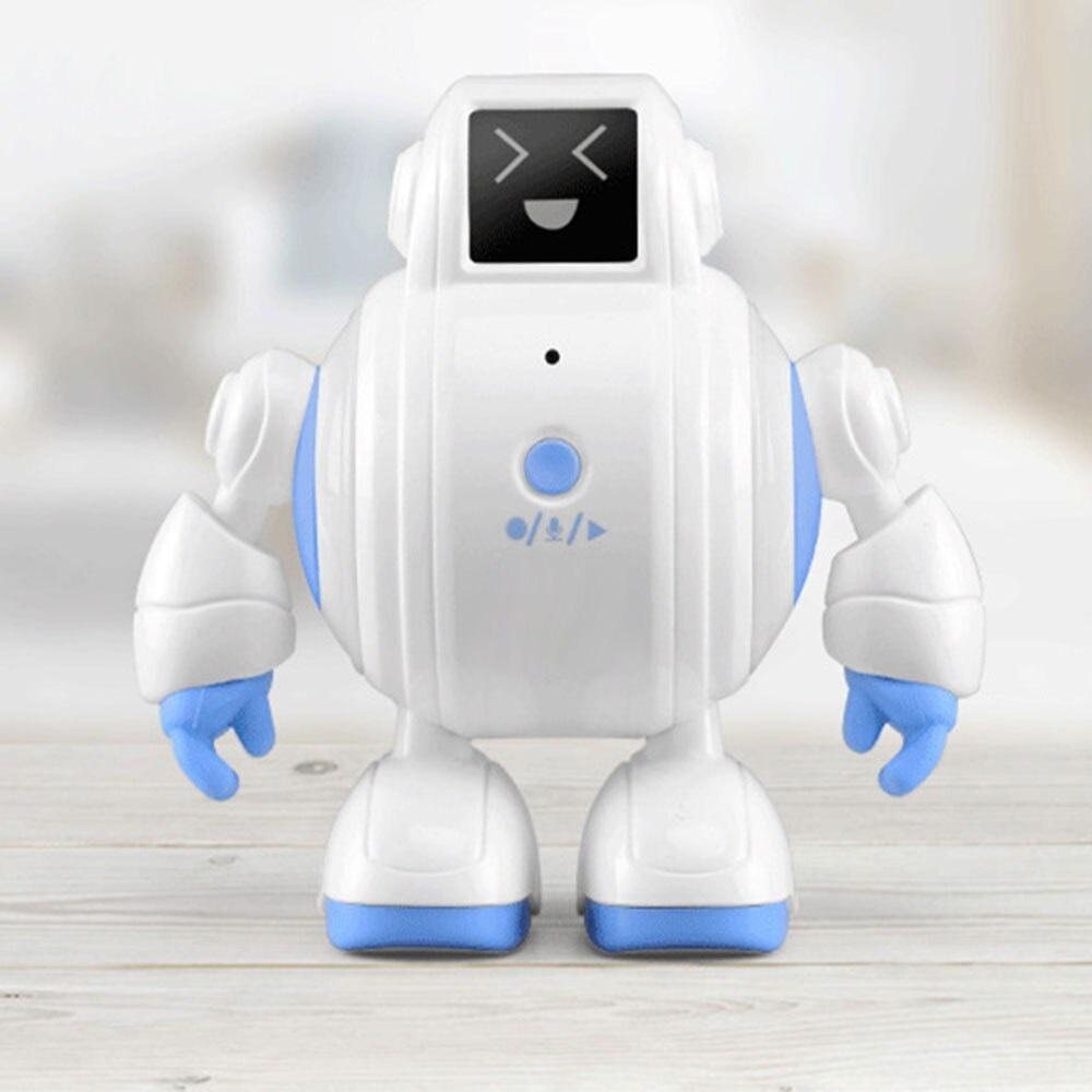 マジックボイスロボットの表情です。指先でロボットの顔を転がすことで、4つの表情に変えることができます。ロボットの手足も動かすことができます。気分に合わせて楽しめ、お子様の指先の発達にも役立ちます。