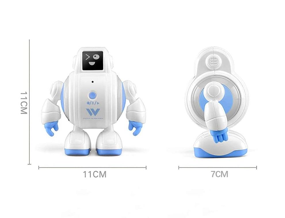 マジックボイスロボット、ミニサイズで両腕が360度回転、両脚が左右に動かせ、好きなポージングをさせることができます。操作が簡単で、音質もよく、目に優しいのでプレゼントと贈り物に最適です。