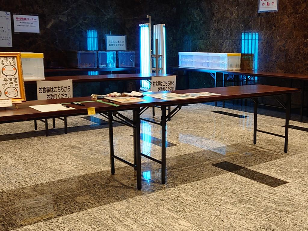 神奈川県新型コロナウイルス感染症の軽症者等の宿泊療養施設で殺菌ロボット稼働(走行、UV-C照射、UV-C照射前後の殺菌効果)3