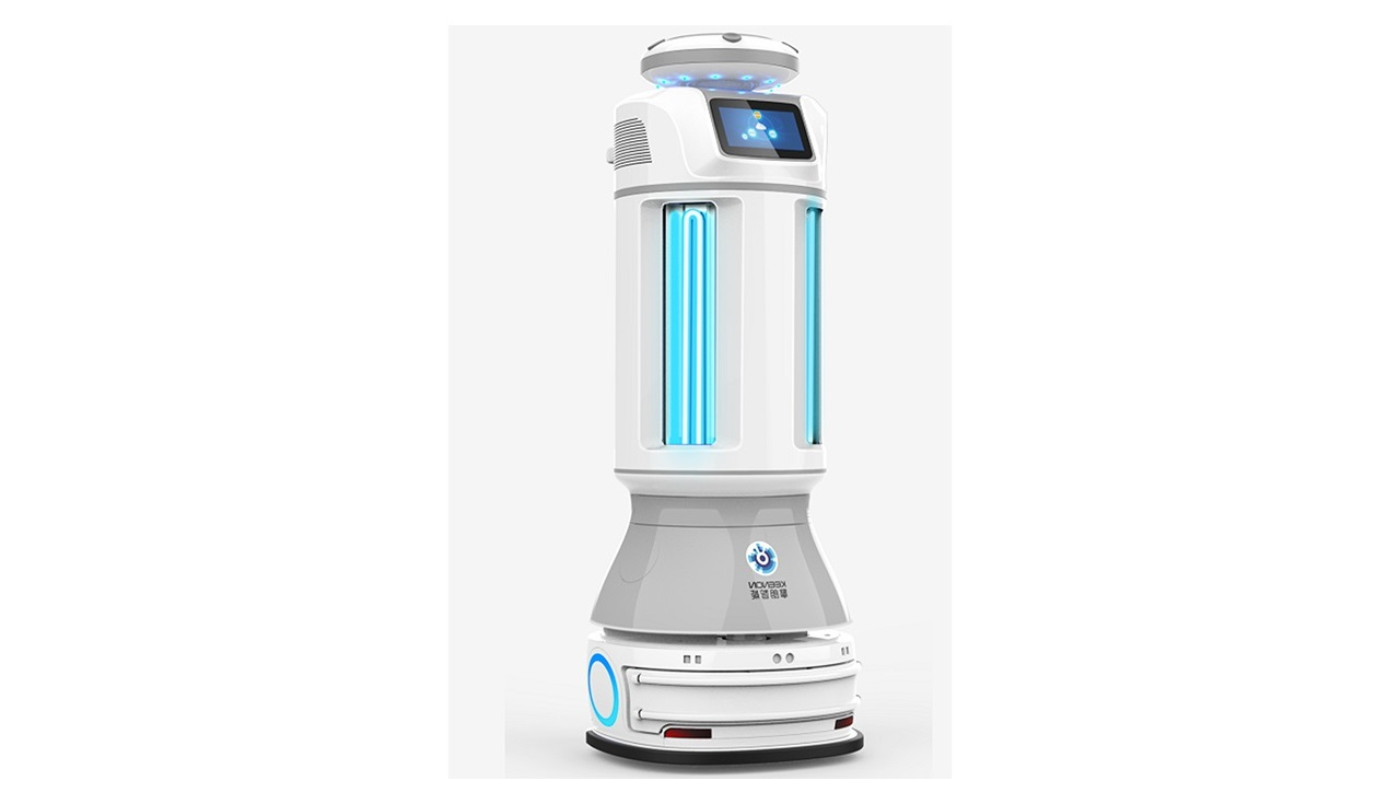 紫外線照射型・自動走行ウィルス除染ロボット