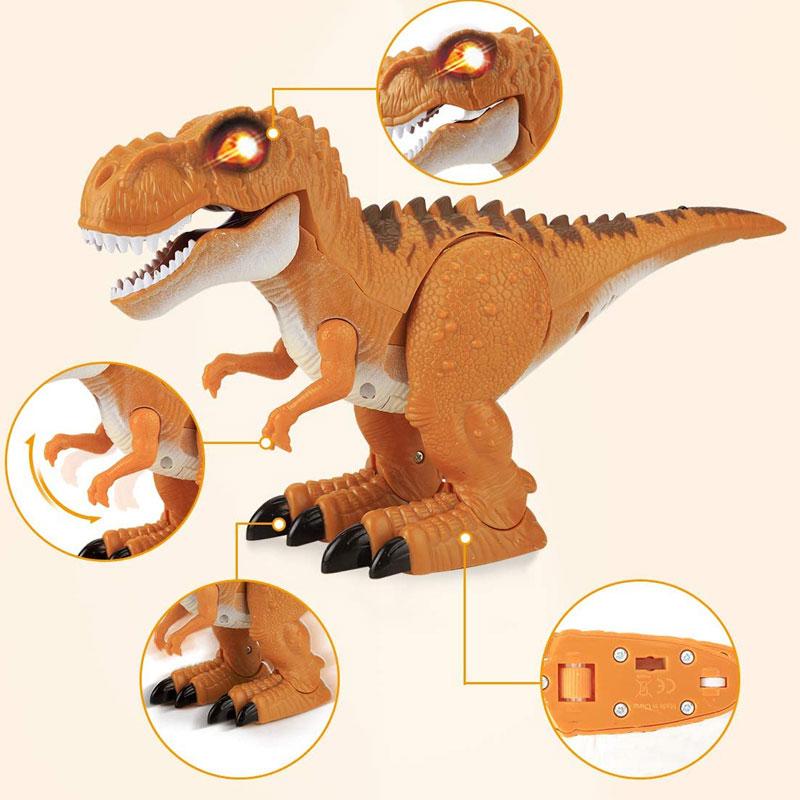 ラジコンの恐竜ロボット「RCディノ」ラジコンのように操作できる 関節が動いて前に進みます。