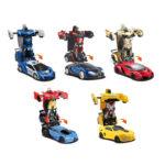 トランスフォーマー ラジコンカー ワンボタンでロボットに自動変形 ドリフト走行と360度回転できます!警察車、スポーツカー、ブガッティなど様々なモデルが勢揃い