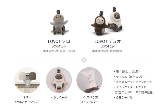 LOVOT(ラボット)の購入価格、販売形態・購入プラン