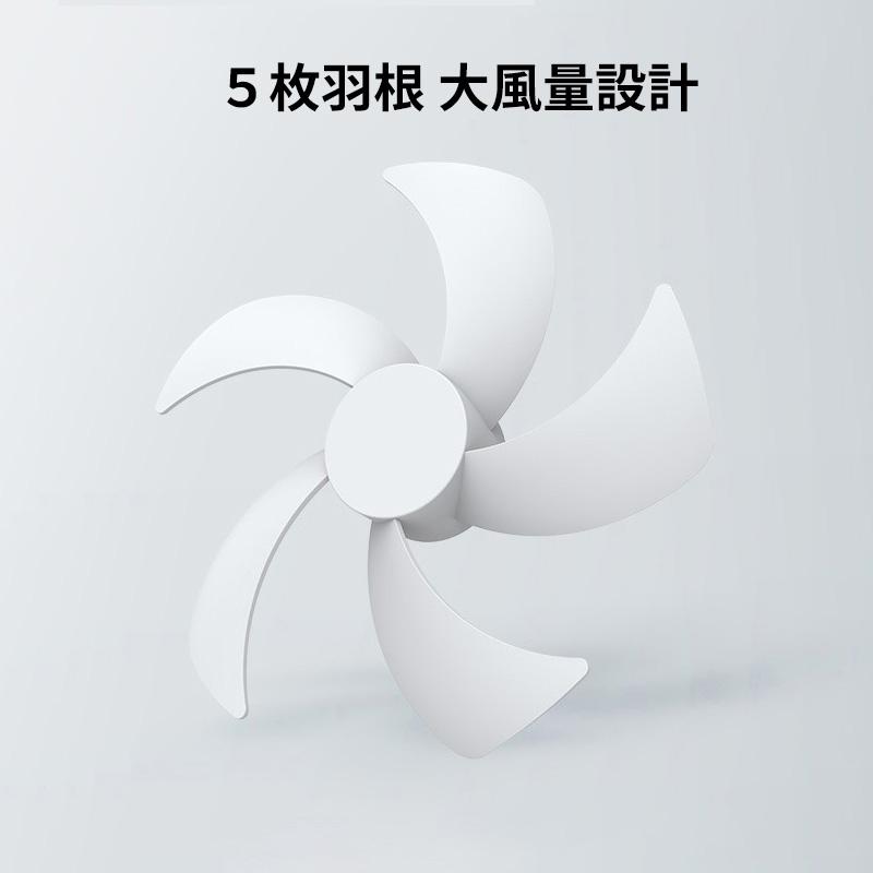 5枚羽根 大風量設計 最大5000回転/分間の高速モーター搭載、且つ流体力学原理に基づいたファンデザインを採用しております。5枚羽根を生かして、安定かつ集中した大風量を提供できます。涼しいパワフルな風を楽しめます。